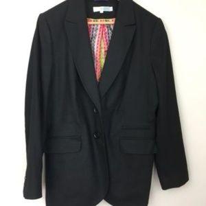 Boden black wool blend blazer